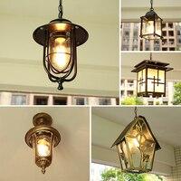 European balcony small chandelier corridor aisle garden Villa Park waterproof outdoor chandelier