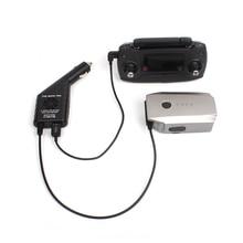 2 в 1 Автомобильное зарядное устройство с USB портом зарядка аккумулятора для телефона планшета для DJI Mavic Pro пульт дистанционного управления аксессуары
