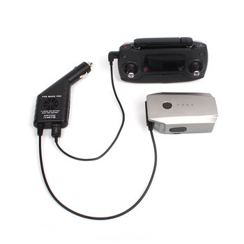 Cargador de coche 2 en 1 con puerto USB carga de batería para tableta de teléfono para accesorios de control remoto DJI Mavic Pro