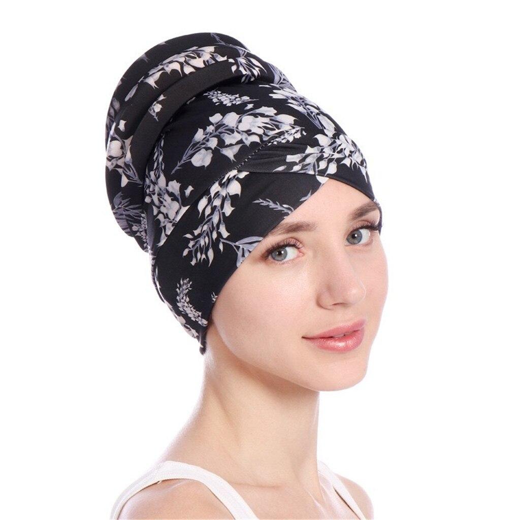 New Women Hair Care Islamic Jersey Head Scarf Islamic Muslim Hijab Turban Hat Headwrap Scarf Cover Chemo Cap Newly AA