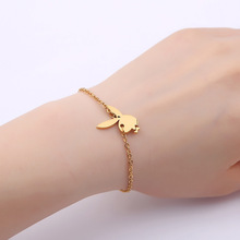 [FCY] new stainless steel cute rabbit head bracelet romantic lovers gift decorations personalized jewelry accessories