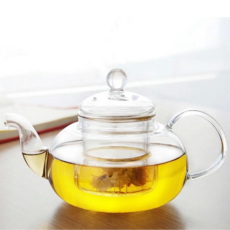 Hoge kwaliteit hittebestendig glas theepot met infuser for Hittebestendig glas