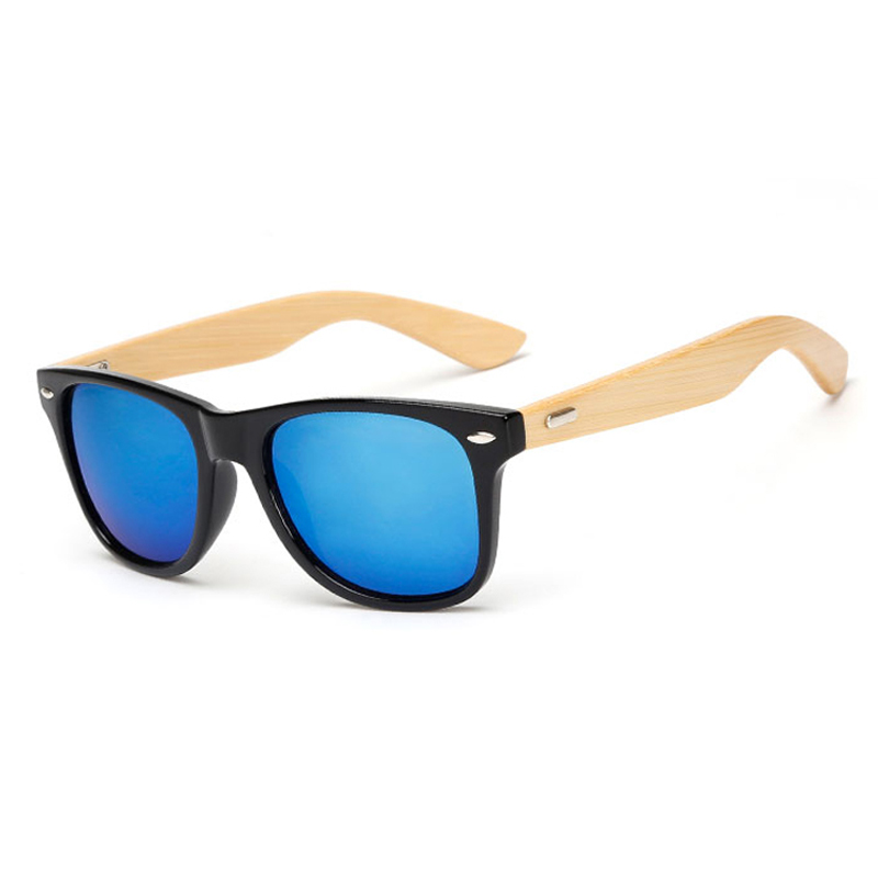 17 colores Gafas de sol de madera Hombres mujeres bambú cuadrado - Accesorios para la ropa - foto 3