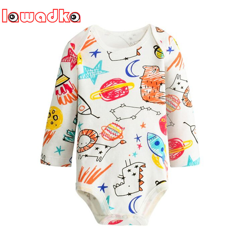 Lawadka Cotton Baby Bodysuits NewBorn Boys Girls Clothes Infant Jumpsuit Overall Long Sleeve Body Suit Baby Clothing joyo roy baby rompers newborn cotton tracksuit clothing baby long sleeve hoodies infant boys girls jumpsuit baby clothes suit
