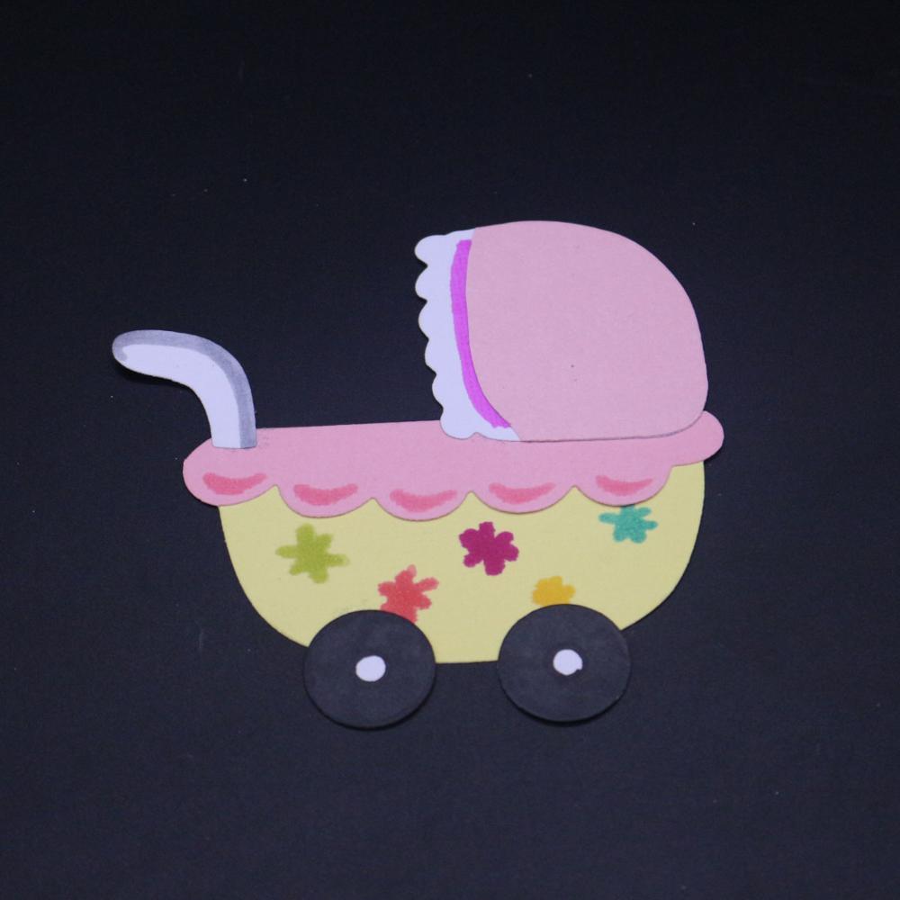 AZSG baby cart Cutting Dies For DIY Scrapbooking Decorative Card making Craft Fun Decoration 15.4*7.8cm