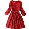 Vestidos de las mujeres adolescentes ropa de encaje princesa dress dress beach dress otoño/invierno nueva party dress women dress