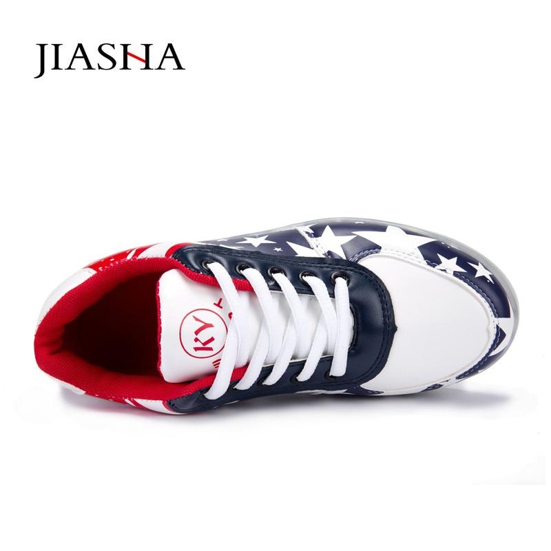 white La Hole Chaussures 44 1 Lumineux Sport red Léger Plus De Adultes 2 Taille Pour black pin Black pin Led 2016 White 35 1 star Toile Note Femmes fPBFFx