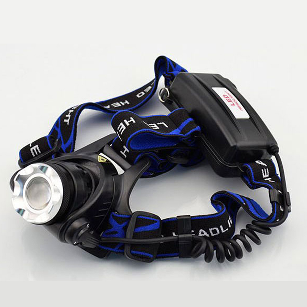 2000LM HP79 Head Light Head Lamp Cree XM-L T6 Led  Rechargeable Headlamps Headlights Lamp lights By 18650 Battery Charger