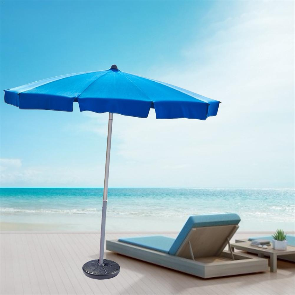 2020 Portable Durable Outdoor Parasol Garden Umbrella Base Stand Round Patio Beach Garden Patio Umbrella Sun Shelter Accessory