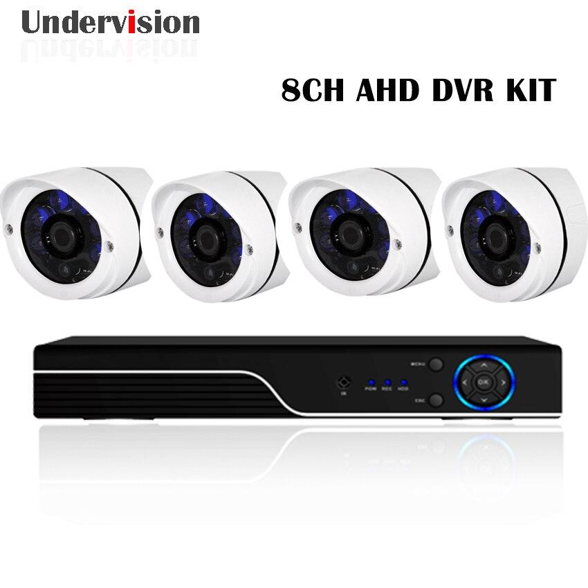 8chs 1080N AHD 3in 1 DVR and 4pcs 720P AHD camera