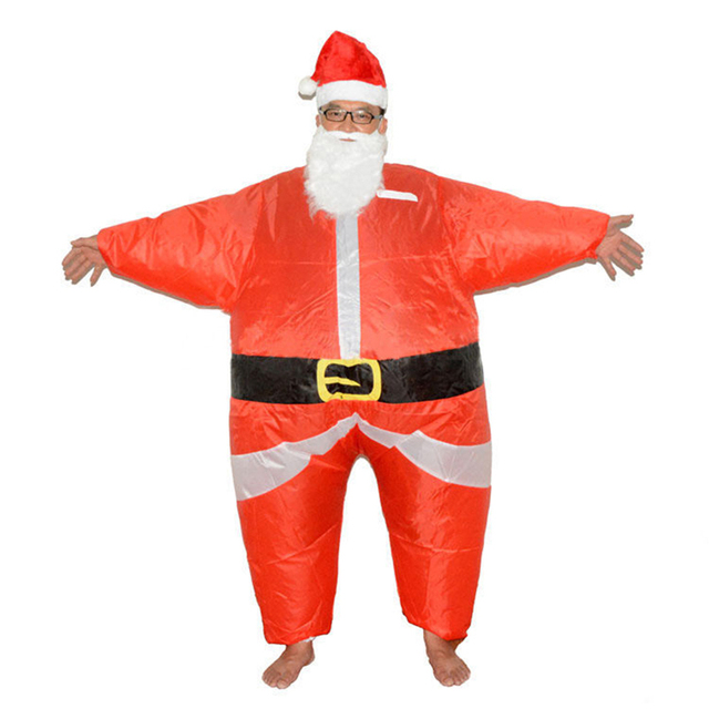 Inflatable Santa Claus Costume Christmas Santa Claus Disfraz Adult Cosplay Blow Up Xmas Suit Funny Dress Adult New Year Gifts