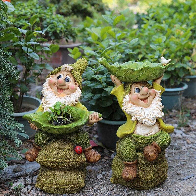 Children's Gifts Outdoor Garden Courtyard Decoration Creative Resin Dwarfs Home Decoration Accessories