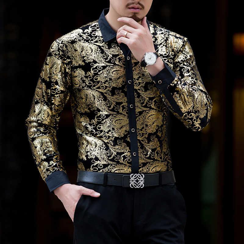 ムー元陽新着ファッションメンズシャツ男性スリムフィット長袖 Tシャツの男性服 50% オフ