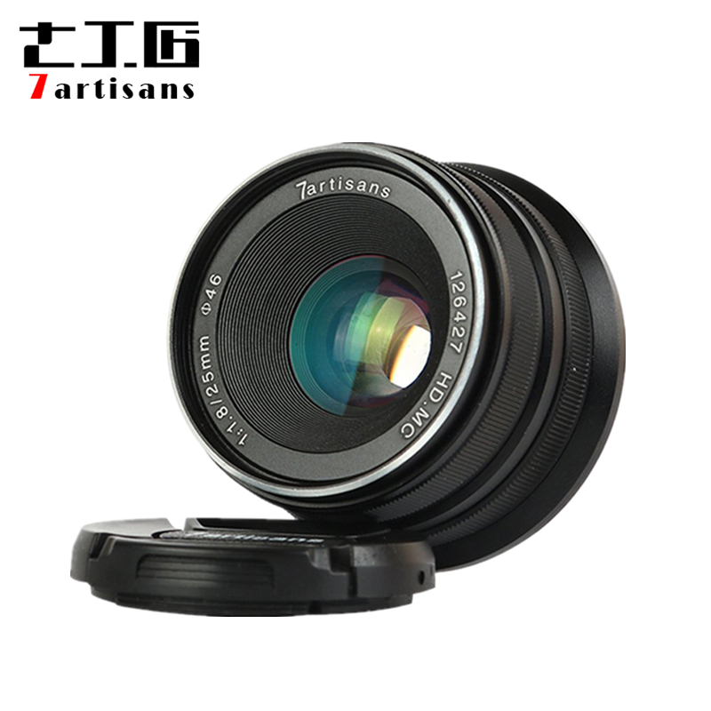 New 25mm f1.8 Prime Lens to All Single Series E Mount for Canon EOS-M Mout / for Micro 4/3 Cameras A7II A7 A7R A7RII-A1 7artisans 25mm f1 8 prime lens to all single series for e mount canon eos m mout micro 4 3 cameras a7 a7ii a7r free shipping
