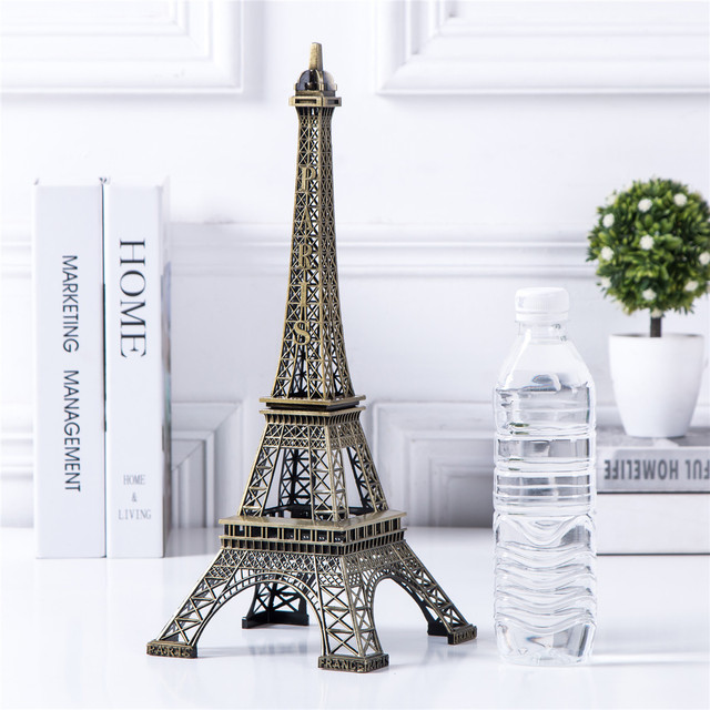Bronze Eiffel Tower Decor zinc alloy Metal Home Decoration Improvement Gift 5