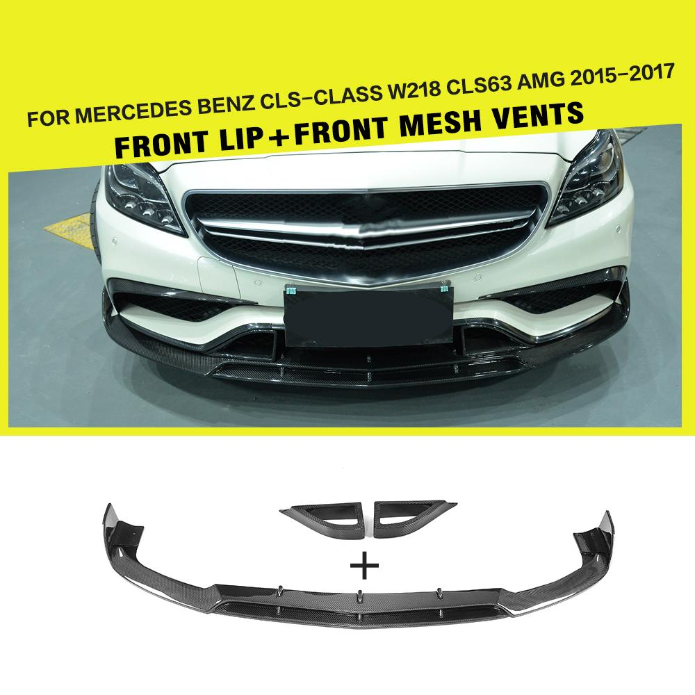 2009 Mercedes Benz Cl Class Exterior: Carbon Fiber Racing Front Bumper Lip Splitters For CLS