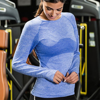 Yoga Tops Gym Compression Women Sport T Shirts Quick Dry Running Sportswear Long Sleeve Slim Fitness