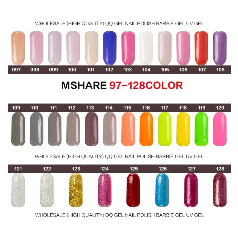 MSHARE 10ml Qara UV Dırnaq Geli Polyak Markası Qalıcı Qalıcı - Dırnaq sənəti - Fotoqrafiya 4