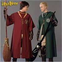 New Harry Potter Adult Robe Cloak Gryffindor Slytherin Quidditch Cosplay Costume