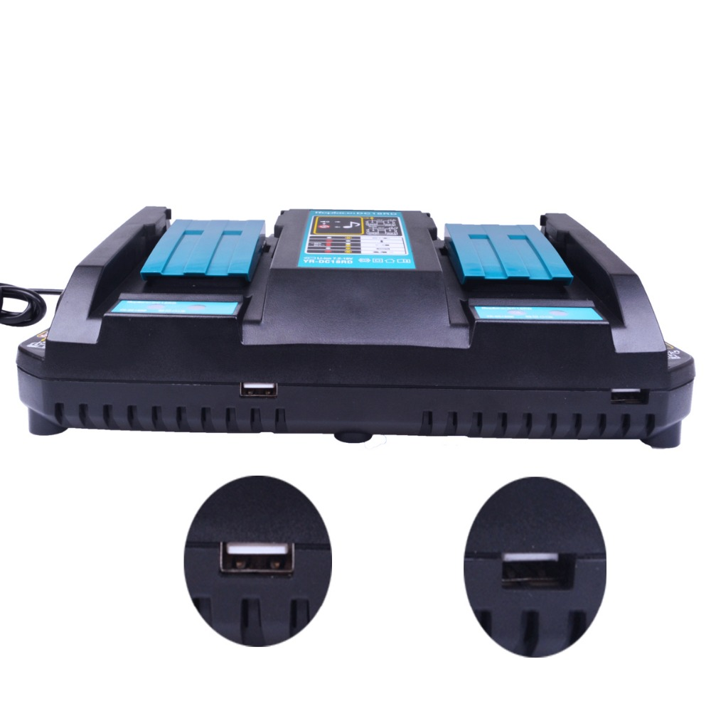 7 2V 18V 4A Li Ion Fast Battery Charger For Makita BL1415 1420 1815 1820 1830