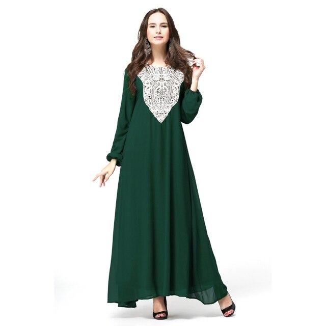 Кафтан Мусульманин Абая Джилбаба Исламская Женщины С Длинным Рукавом Коктейль Макси Платье Ml