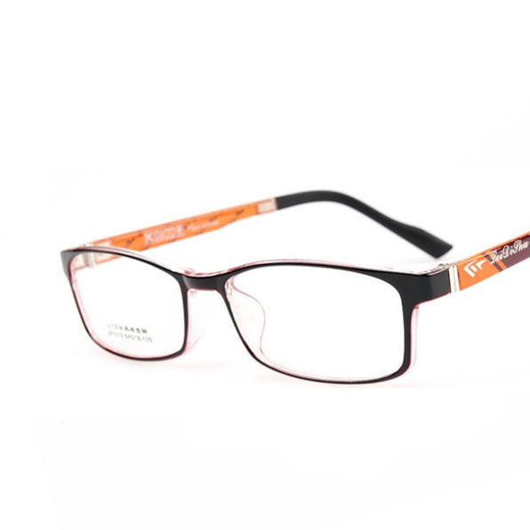 Practical Shauna Carbon Fiber Decoration Tr90 Eyeglasses Prescription Frame Men Resin Lens Ultralight Square Optical Glasses Myopia Men's Glasses Apparel Accessories