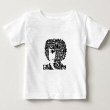 цена на Children 100% cotton BOB DYLAN Printed t shirt o-neck casual T shirt short-sleeved t-shirts hip hop boy/girl tee shirt 2018  NN