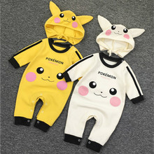 763e670494f Baby Girls Boys Romper Newborn Baby Clothing Pokemon Kids Pikachu Costumes  Jumpsuits With Cute Hats Infant