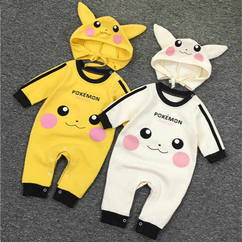 073eed046a6f Baby Girls Boys Romper Newborn Baby Clothing Pokemon Kids Pikachu Costumes  Jumpsuits With Cute Hats Infant