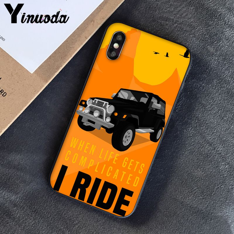 Image 4 - Yinuoda Off road tire track Customer High Quality Phone Case for Apple iPhone 8 7 6 6S Plus X XS MAX 5 5S SE XR Cover-in Half-wrapped Cases from Cellphones & Telecommunications