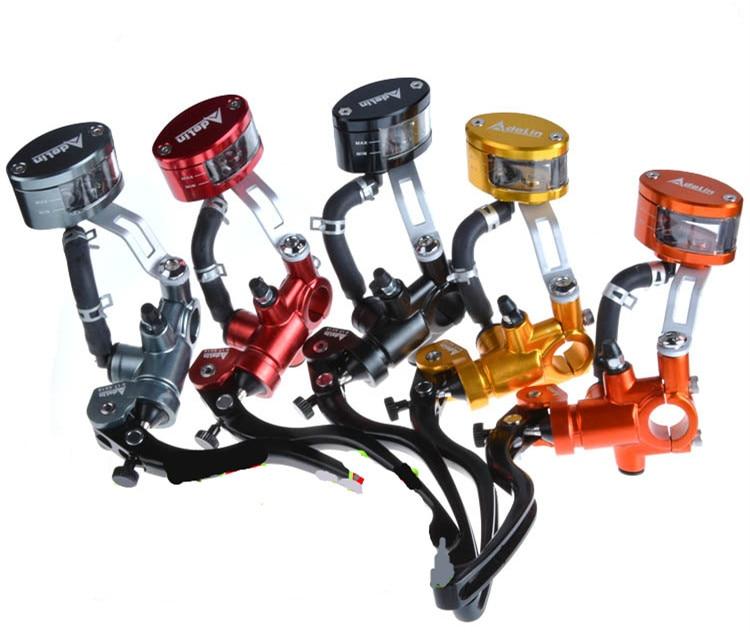 ADELIN motorcycle brake master cylinder 17.5x18mm for Hydraulic disk brake FOR HONDA R6 FZ6 GSXR600 ZX-6R Z800 YAMAHA KAWASAKI for honda cb600f cb900f hornet cb1000r motorcycle upgrade front brake system radial brake master cylinder