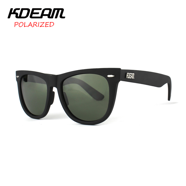 KDEAM 2017 New Arrival HD Polarized Sunglasses Men Big Size 58 width Sports Sun Glasses Women UV400 gafas de sol With Case 2140F