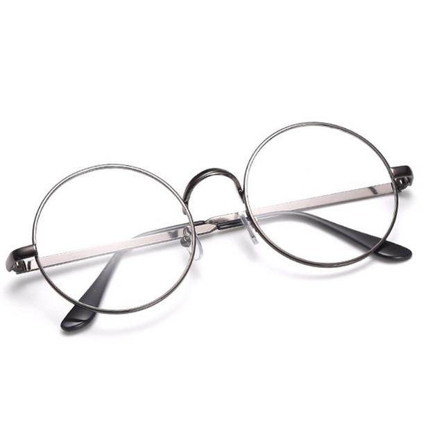 d00c00f7da9 OUTEYE Fashion Women Vintage Round Frame Plain Mirror Harajuku Eyeglasses  Optical Glasses Clear Lens Glasses Nerd Sunglasses W2