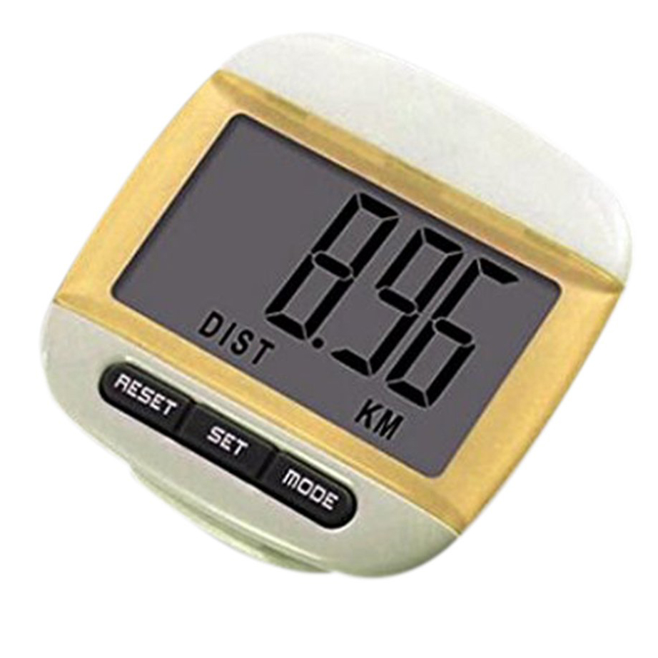 PROMOTION!Multifunction LCD Pedometer Walking, Step, Distance, Calorie Calculation Counter -Yellow