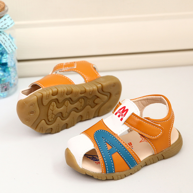 d53922ff124 New arrival 2018 baby sandals high quality girls boys shoes baby shoes 1-3  years blue orange LT-005