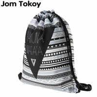 Hakuna matata Frauen geometrische Rucksack 3D druck reise softback frauen mochila kordelzug herren rucksäcke