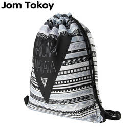 Акуна Матата Для женщин рюкзак с геометрическим рисунком 3D печати путешествия softback Для женщин сумка со шнурком сумка мужские рюкзаки