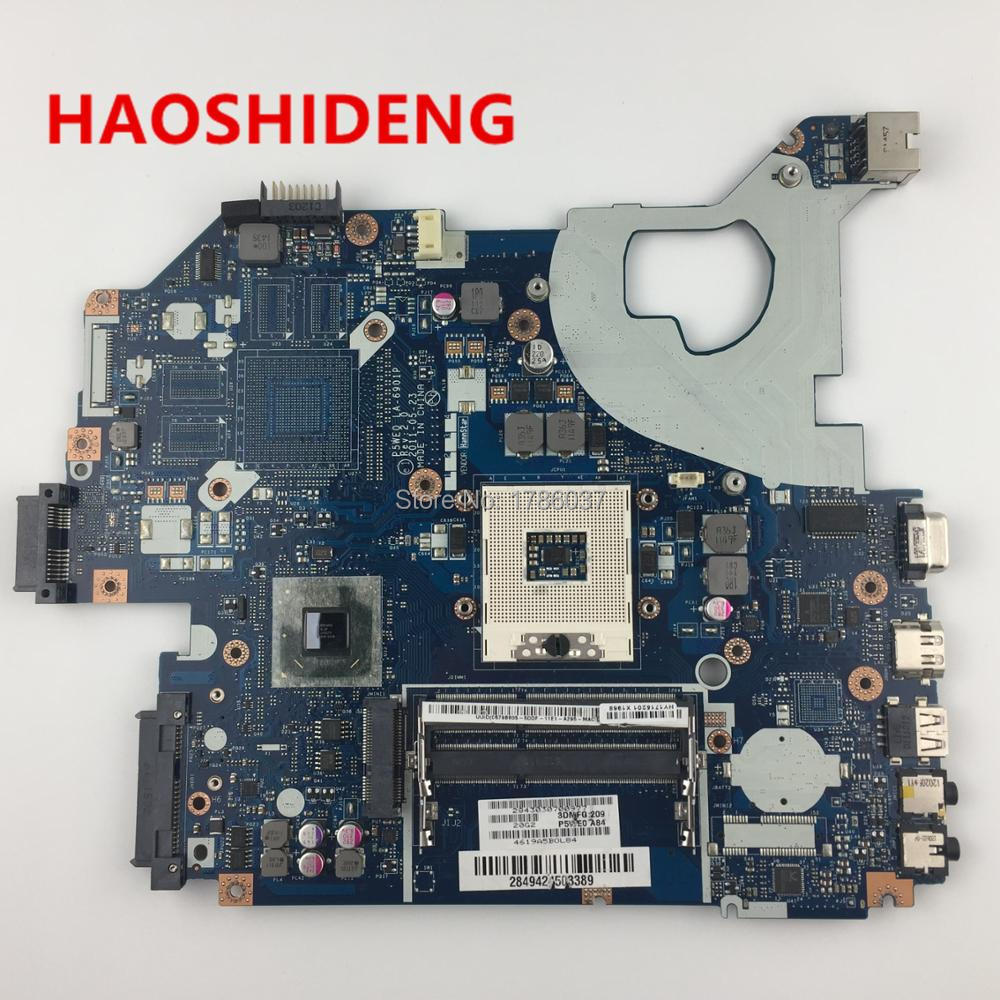For Acer Aspire 5750 5750G 5755G Laptop Motherboard P5WE0 LA-6901P.All functions fully Tested ! nokotion laptop motherboard for acer aspire 5750 5750g mbrcg02006 p5we0 la 6901p mb rcg02 006 gt540m ddr3 mainboard