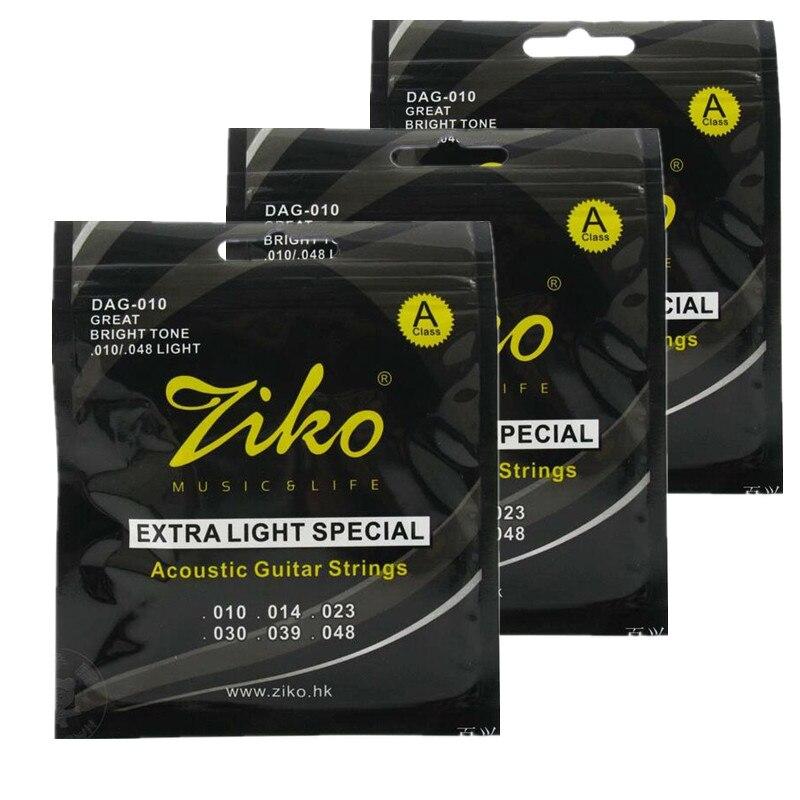 Ziko 010 048 Acoustic Guitar Strings Dag 010 Guitar Parts Musical