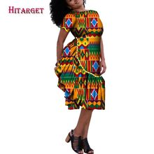 Hitarget 2018 African Dresses for Women  Autumn Bazin Dashiki Wax Print Splice Traditional Clothing plus WY183