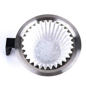Image 1 - 1000/500 sztuk 12Cup amerykańska kawa bibuła filtracyjna ekspres do kawy wymiana Cafe Coffee Ware do koszyka RH 330
