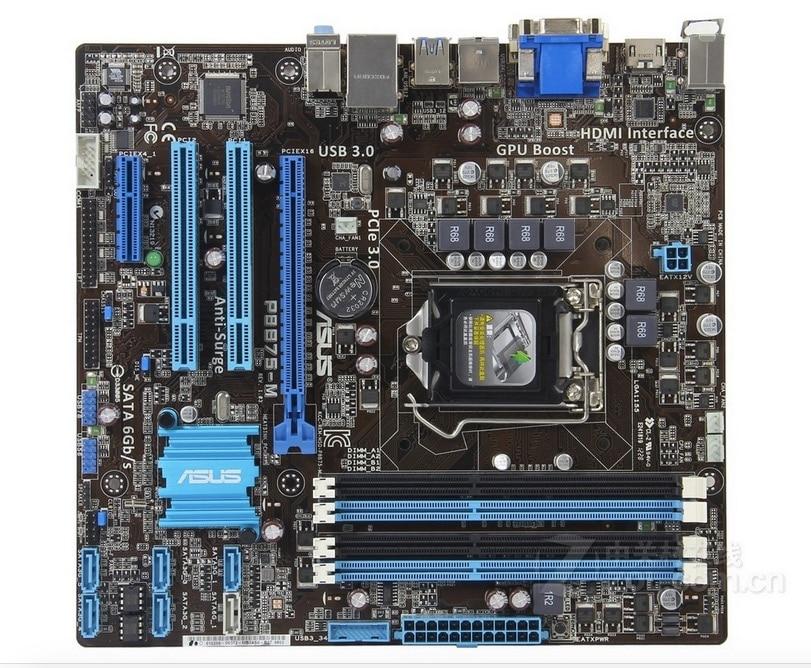 original motherboard ASUS P8B75-M DDR3 LGA 1155 USB2.0 USB3.0 32GB for 22/32nm cpu B75 Desktop motherboard Free shipping original motherboard asus p8p67 pro ddr3 lga 1155 for i3 i5 i7 cpu 32gb usb3 0 sata3 p67 motherboard free shipping