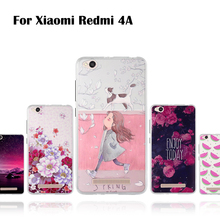 Case For Xiaomi Redmi 4A 5.0 inch Soft TPU Back Cover For Xiaomi Redmi 4A 3D Relief Thin Colorful Cases Protection Cover Flower