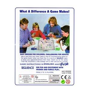 Image 2 - ألعاب التسلسل للأطفال لعبة لوحة التسلسل الصعبة 104 بطاقة 2 12 لاعبا لعبة عائلية النسخة الإنجليزية