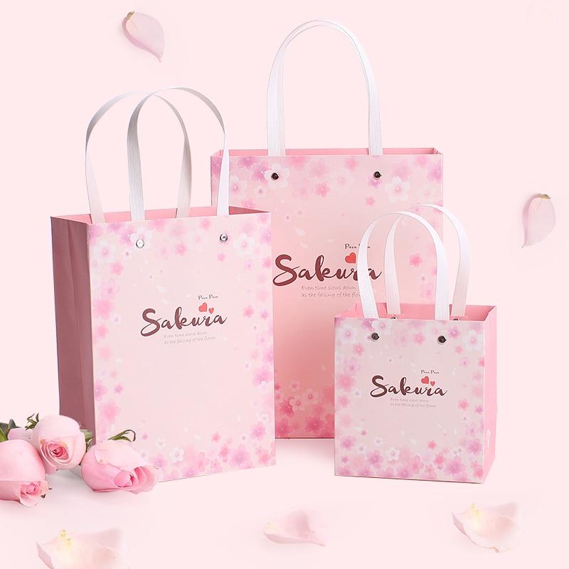 3 dimensiune Roz romantica sakula floare cadou cutie cadou sac - Produse pentru sărbători și petreceri