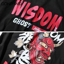 GONTHWID Evil Ghost Printed Tops Tees Mens