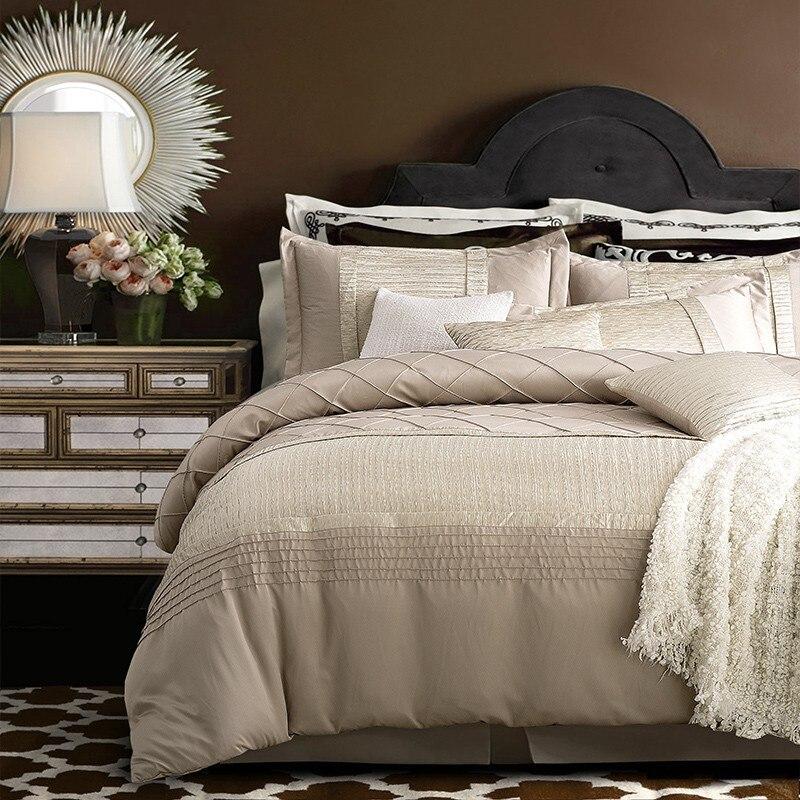 4/6Pcs Imitate Silk Cotton Pleated Luxury  Royal Bedding set King Queen Size Wedding Bed set  344/6Pcs Imitate Silk Cotton Pleated Luxury  Royal Bedding set King Queen Size Wedding Bed set  34