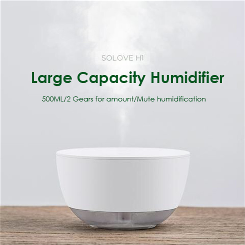 Creative Bowl Shape Humidifier Simple Style Household Air Humidifier Nano Mist USB Diffuser 500ML Capacity Mute Mist Maker floor style humidifier home mute air conditioning bedroom high capacity wetness creative air aromatherapy machine fog volume