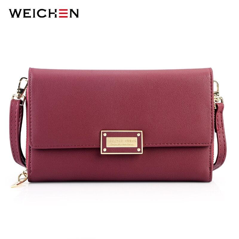 WEICHEN Brand New Multi-functiona Ladies Shoulder Bag & Clutch Big Capacity Leather Female Wallet Purses Messenger Bag Women NEW