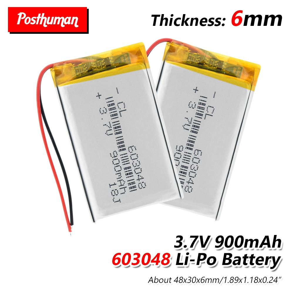 <font><b>603048</b></font> Lithium Polymer Li-Po li-ion <font><b>3.7V</b></font> 900mAh Rechargeable <font><b>Battery</b></font> cell For Mp3 MP4 MP5 GPS mobile bluetooth Drone Game Player image